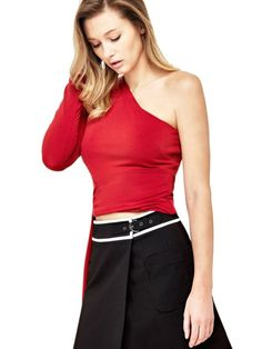 EUR119.00$  Watch here - http://vinmd.justgood.pw/vig/item.php?t=rikwzk54302 - SINGLE-SHOULDER MARCIANO TOP