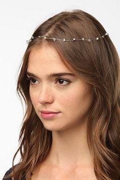 Delicate Crystal Halo Headwrap