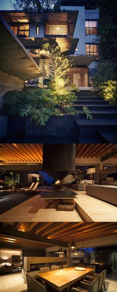 Stunning. Absolutely stunning. CHK Arquitectura designed Maza House by night (Lake of Valle de Bravo, Mexico). #architecture