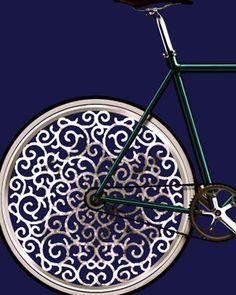 bike wheel art