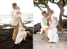 Love the picture on the right - beach wedding photography