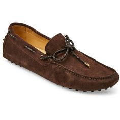 Kenneth Cole Brown If The Shoe Fits Moc Toe Loafer ($80) ❤ liked on Polyvore featuring men's fashion, men's shoes, men's loafers, brown, mens woven slip on shoes, mens rubber shoes, mens brown loafer shoes, mens slipon shoes and kenneth cole mens shoes