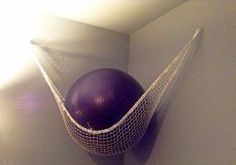 Home Gym - diy exercise ball storage - Google Search - amzn.to/2fSI5XT Home Gyms - http://amzn.to/2hoGXRy