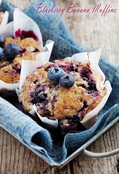 Blueberry Banana Muffins from Jillian Michaels' The Master Your Metabolism Cookbook. Find the recipe at This Mama Cooks! On a Diet - thismamacooks.com