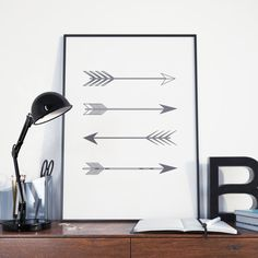 Poster de flechas arte imprimible diseño digital por PrintingLife