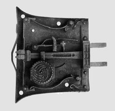 Lock Date: 15th century Culture: British Medium: Iron Dimensions: Overall: 8 1/4 x 8 1/4 x 3 7/16 in. (21 x 21 x 8.7 cm)