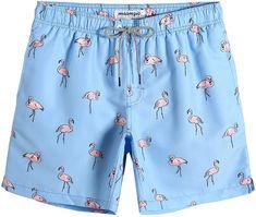 MaaMgic Mens Swim Trunks Flamingo Slim Fit Quick Dry Swim Shorts Swimwear Mens Bathing Suits with Mesh Lining | Amazon.com Men's Bathing Suits, Mens Designer Swim Trunks, Vintage Swim, Swim Shorts, Quick Dry, Fasion, Hogwarts, Flamingo, Casual Shorts