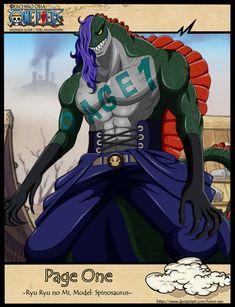 Page One Art by Toroi-san Kaidou One Piece, Spinosaurus, First Art, Art Pieces, Joker, Animation, Manga, Fictional Characters, Anime Characters