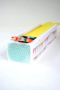 Happy Bunting Pencil Box - Pencil case - Desk Organizer on Etsy, $14.68 AUD