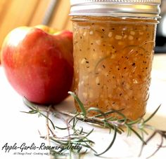Cooking With Mary and Friends: Apple-Garlic-Rosemary Jelly Jelly Recipes, Jam Recipes, Canning Recipes, Apple Recipes, Apple Jelly, Apple Jam, How To Make Applesauce, Pork Marinade, Home Canning