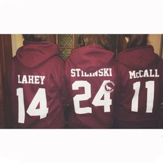 me and my friends are doing this teen wolf stilinski hoodie