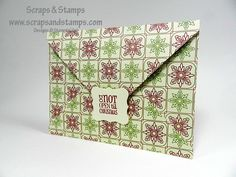 Stampin' Up! Demonstrator - Nicole Picadura - Scraps & Stamps: Christmas  How to make envelope