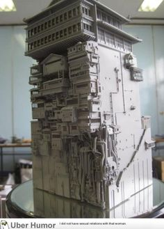 A model of the bath house in Spirited Away.