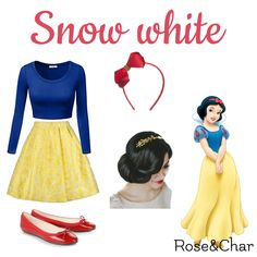 Snow white🍎 Princess Inspired Outfits, Disney Princess Outfits, Disney Dress Up, Disney Themed Outfits, Disneyland Outfits, Disney Inspired Fashion, Disney Fashion, Disney Character Outfits, Disney Characters Costumes
