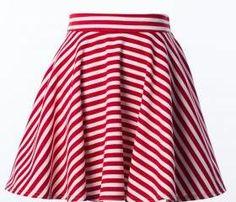 pretty stripe flare skirt
