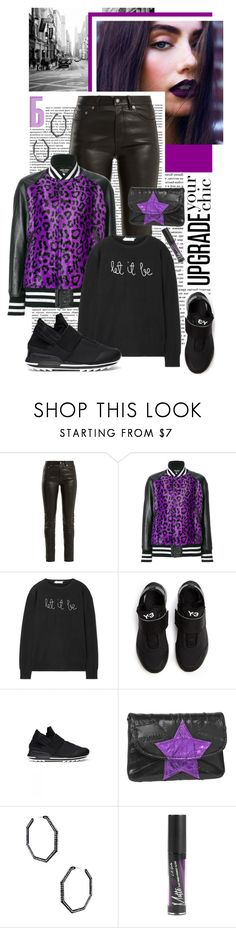 """""""UPGRADE YOUR CHIC"""" by shortyluv718 ❤ liked on Polyvore featuring Yves Saint Laurent, Lingua Franca, Y-3, Amrita Singh and Hot Topic"""