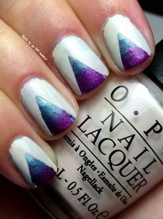 Nails by an OPI Addict: Holo Triangles!
