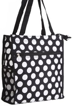 World Traveler Black White Polka Dot Travel Tote Bag 12-inch -- Learn more by visiting the image link.