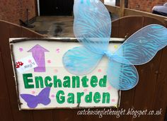 Enchanted Garden sign Woodland Fairy, Garden Signs, Enchanted Garden, 4th Birthday, To My Daughter, Party, Blog, Fourth Birthday, Parties