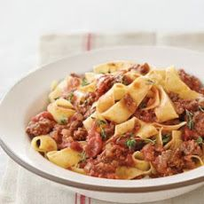 Pappardelle with Quick Bolognese Sauce