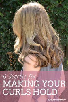 Primp Tip: How to Make Your Curls Hold