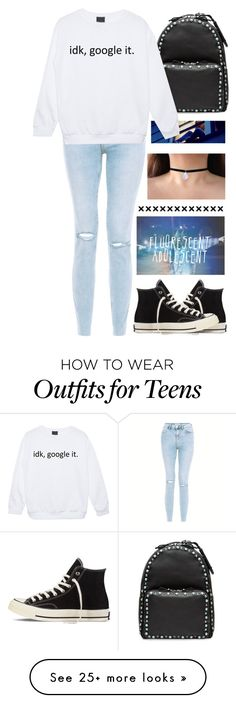"""teens"" by ashkitty on Polyvore featuring Worth, Valentino and Converse"