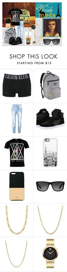 """Leo Picon ""Primeiro dia de Aula"""" by gabie-rippi ❤ liked on Polyvore featuring Oris, Calvin Klein Underwear, adidas Originals, Topman, Supra, Casetify, Ports 1961, Ray-Ban, Fremada and Lord & Taylor"