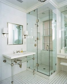 Love the glass shower for Bathroom ideas 8x6
