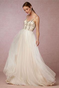 BHLDN Freya Gown in Bride Bridal Style Bohemian at BHLDN