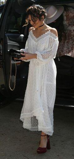 tenue boheme, robe longue blanche pour l'été