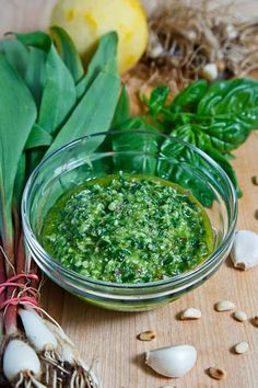 wild leek (ramp) pesto. This is great with pita and hummus, or toss with roasted potatoes. or mix with greek yogurt for a sour cream and onion dip type thing. Good. Good. Good.