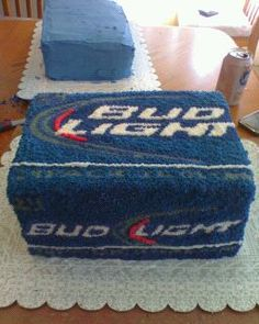 Bud light cake for Uncle Gregg's 40th birthday