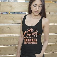 September Birthday Shirt Virgo Tee Queens Are Born In September Zodiac Shirt Birthday Shirt Queen Shirt Birthday Girl Shirt Rose Gold by GypsyJunkClothing