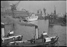Lyonel Feininger, [View of Hamburg harbor], 1936, Harvard Art Museums/Busch-Reisinger Museum.