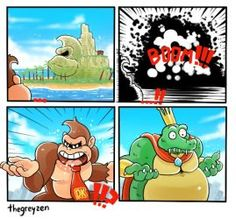 Donkey Kong What the he'll k rool King k rool What i couldn't do anything about it Super Smash Bros Memes, Super Mario Bros, K Rool, Nintendo Sega, Nintendo Games, Little Mac, Diddy Kong, Donkey Kong Country, Fun Comics