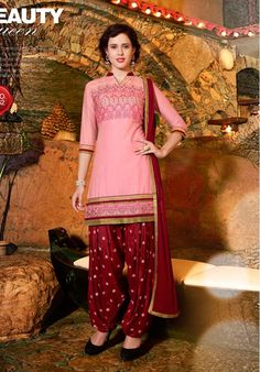 Within 1 Day - Salwar Suits Online: Latest Indian Salwar Kameez For Women, at Utsav Fashion Ladies Salwar Kameez, Patiala Salwar Suits, Cotton Salwar Kameez, Salwar Suits Online, Indian Salwar Kameez, Punjabi Suits, Indian Suits, Indian Dresses, Indian Wear