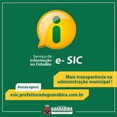 Não encontrou alguma informação no Portal da Prefeitura de Guarabira? Nesse espaço, você pode solicitar essa informação através do nosso e-Sic. - Acesse: http://esic.prefeituradeguarabira.com.br/