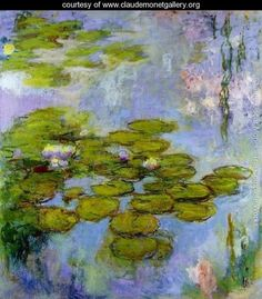Water Lilies - Claude Oscar Monet - 250 in series...1840-1926   www.claudemonetgallery.org
