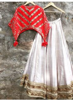 Buy Off White Silk Lehenga Choli Online Choli Designs, Lehenga Designs, Blouse Designs, Indian Designer Outfits, Indian Outfits, Lehnga Dress, Saree Gown, Silk Lehenga, Stylish Blouse Design