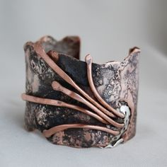 Cuff | Cyndie Smith. Silver and copper