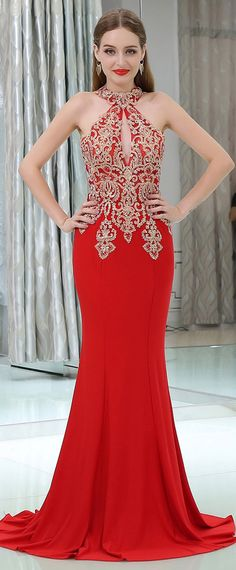 Tips on purchasing Glamorous dresses to impress your date Glamorous dresses glamorous linen halter neckline cut-out mermaid evening dresses with lace appliques hot fix SVYJTSE Glamorous Dresses, Unique Prom Dresses, Beautiful Dresses, Wedding Dresses, Mermaid Evening Dresses, Formal Evening Dresses, Formal Gowns, Ball Dresses, Ball Gowns