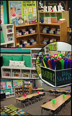 Classroom Tour - Learning In Wonderland. AWESOME ideas to steal here. Classroom Layout, Classroom Organisation, First Grade Classroom, Classroom Setting, Classroom Design, Kindergarten Classroom, School Classroom, Classroom Themes, Future Classroom