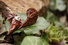 origami nautilus as earrings