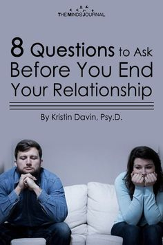 8 Questions to Ask Before You End Your Relationship. 8 questions you must ask before ending your relationship. Relationship Challenge, Relationship Questions, Ending A Relationship, Relationship Problems, Strong Relationship, Communication Relationship, Marriage Problems, Relationship Repair, Relationship Quizzes