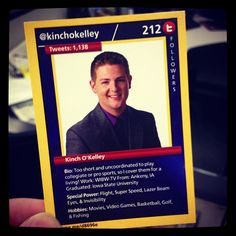 We have our own trading cards just like the pro's!