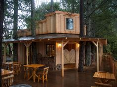 Take a peek inside these larger-than-life spaces featured in DIY Network's The Treehouse Guys. With designs and custom woodwork as beautiful as these, you may never want to return to civilization.