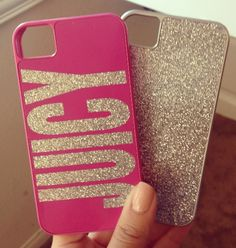 Juicy Couture pink & glitter phone cases