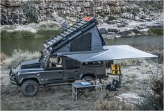Land Rover Defender Icarus is the ultimate camper conversion built by South African company Alu-Cab. It accommodates two people comfortably without compromising on storage space, and was fitted with all you need to head into the wilderness...            more photos and details at ble