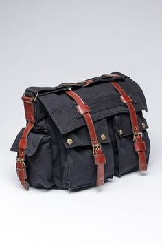 J. Campbell Washed Canvas Messenger