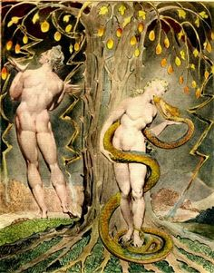 'The Temptation and Fall of Eve', (1808) by  William Blake.